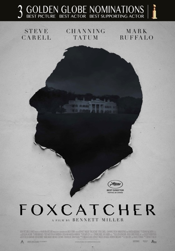 Foxcatcher poster, © 2014 A-Film Distribution