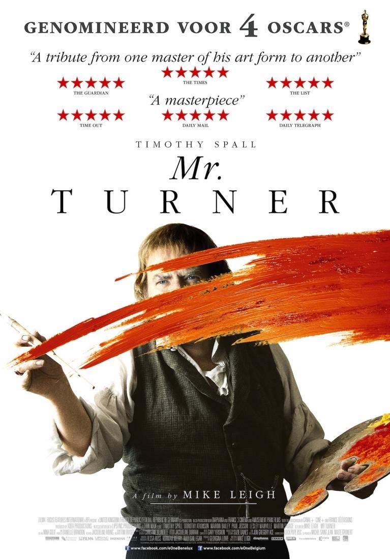 Mr. Turner poster, © 2014 E1 Entertainment Benelux