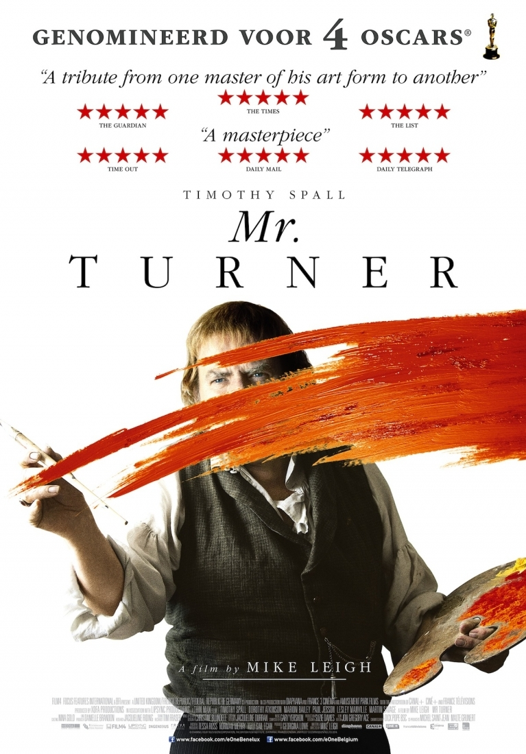 Mr. Turner poster, © 2014 E1 Entertainment Benelux