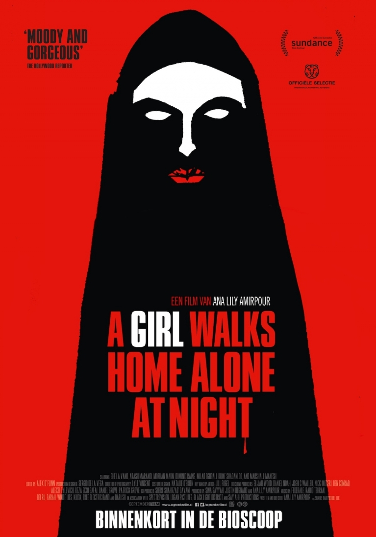 A Girl Walks Home Alone at Night poster, © 2014 September