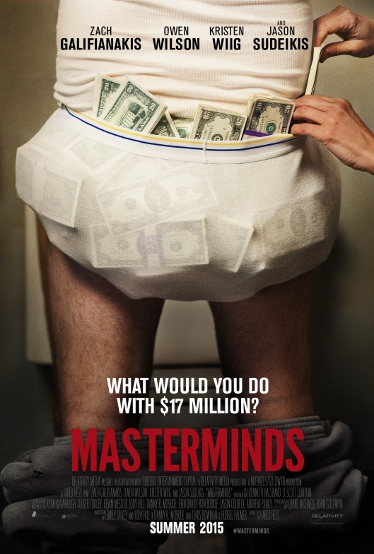 Masterminds poster, © 2015 A-Film Distribution