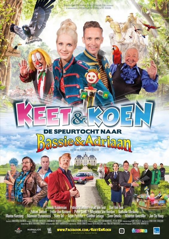 Keet & Koen en de speurtocht naar Bassie & Adriaan poster, © 2015 Entertainment One Benelux