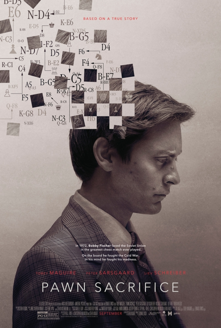 Pawn Sacrifice poster, © 2014 E1 Entertainment Benelux