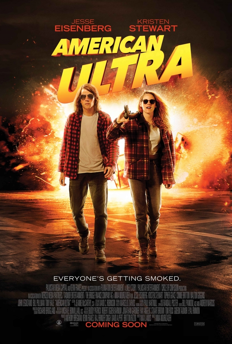 American Ultra poster, © 2015 Entertainment One Benelux
