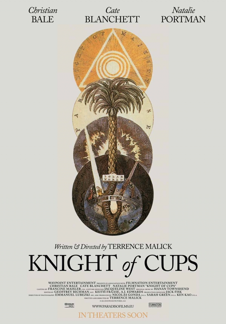 Knight of Cups poster, © 2014 Paradiso