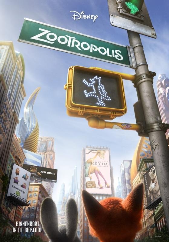 Zootopia poster, © 2016 Walt Disney Pictures