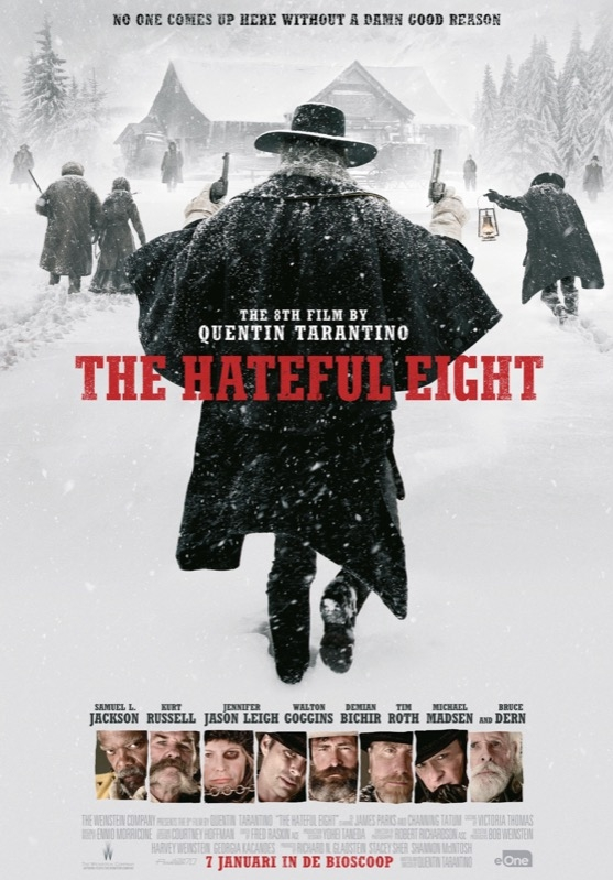 The Hateful Eight poster, © 2015 Entertainment One Benelux