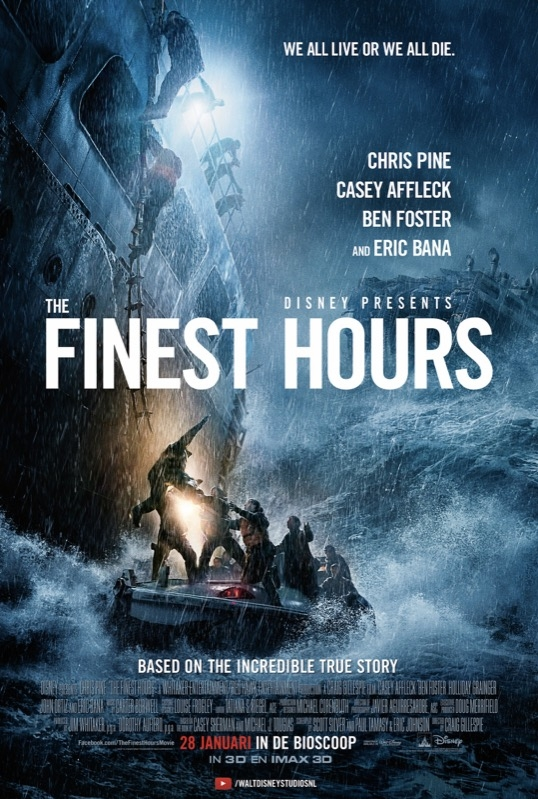 The Finest Hours poster, © 2015 Walt Disney Pictures