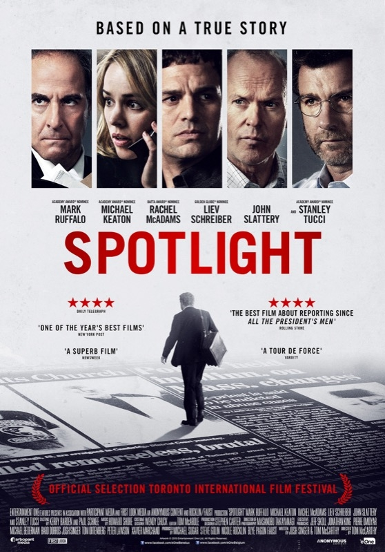 Spotlight poster, © 2015 Entertainment One Benelux