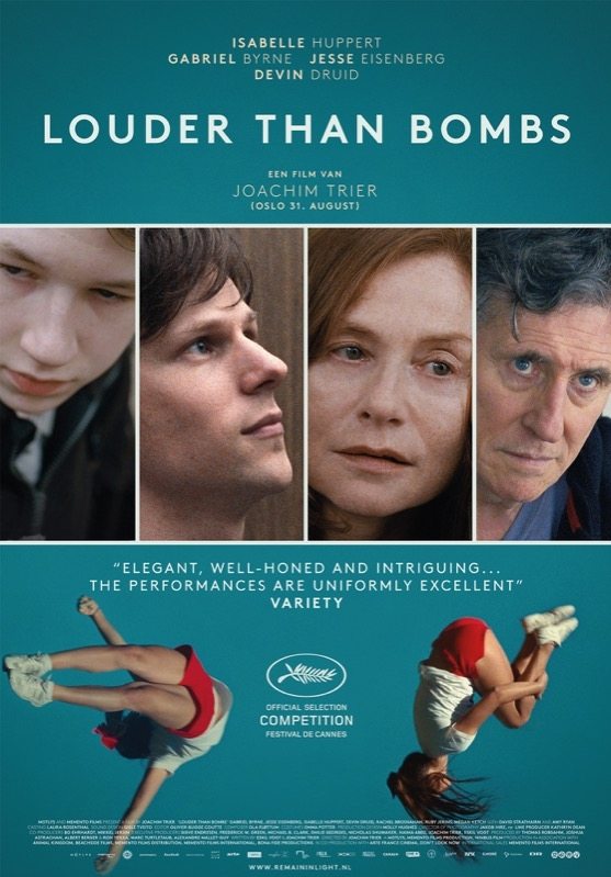 Louder Than Bombs poster, © 2015 Remain in Light