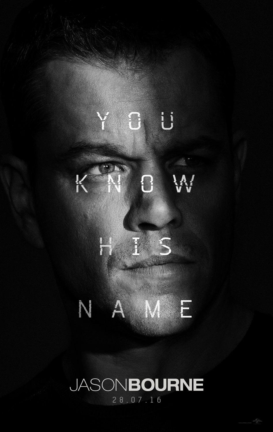 Jason Bourne poster, © 2016 Universal Pictures International