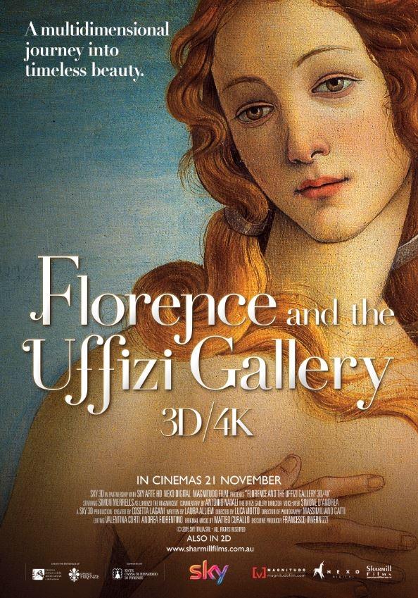 Firenze e gli Uffizi 3D/4K poster, copyright in handen van productiestudio en/of distributeur