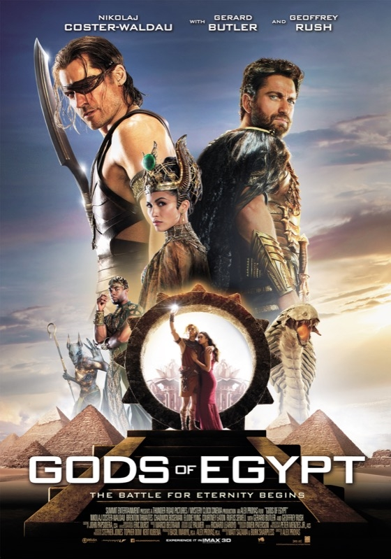 Gods of Egypt poster, © 2016 Independent Films