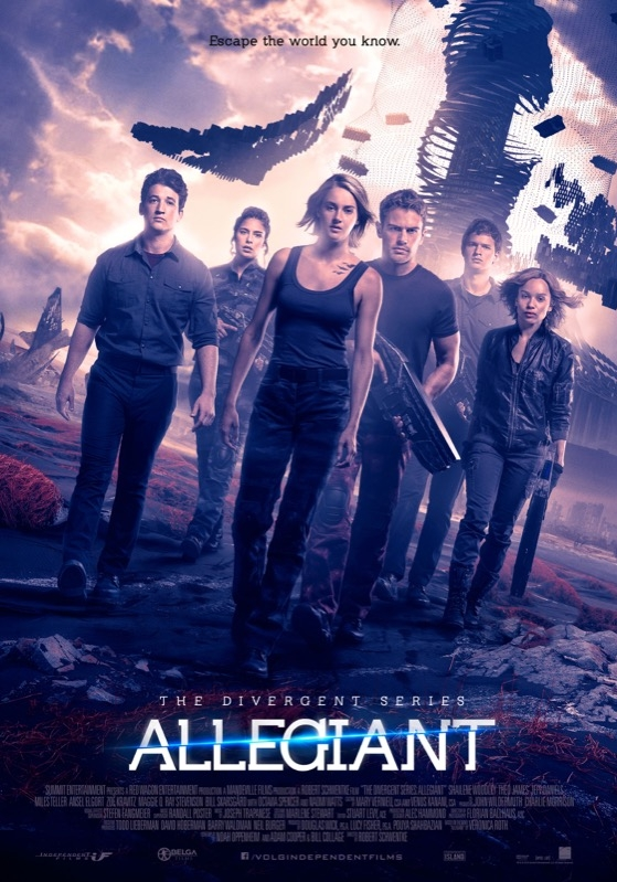 The Divergent Series: Allegiant poster, © 2016 Independent Films
