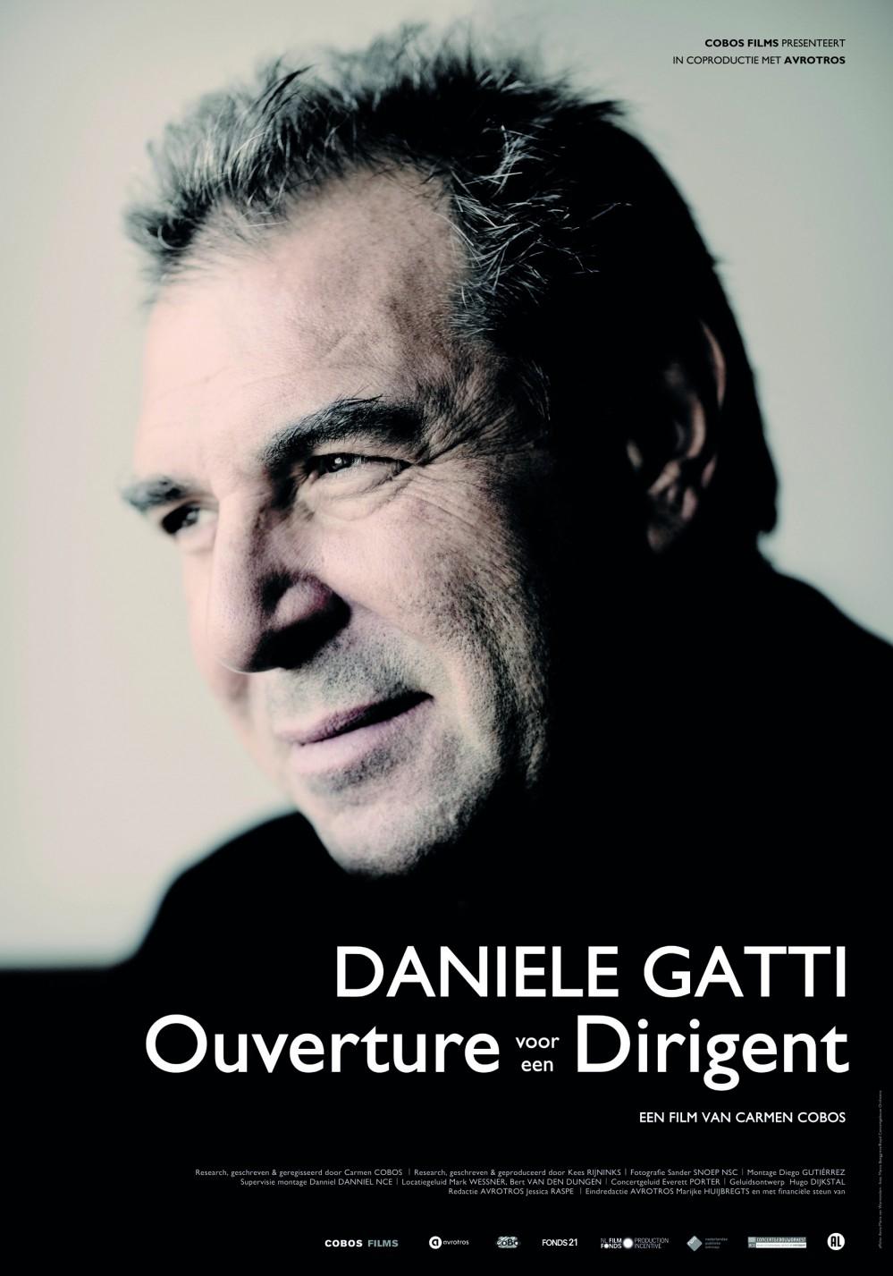 Daniele Gatti - Ouverture voor een Dirigent poster, copyright in handen van productiestudio en/of distributeur