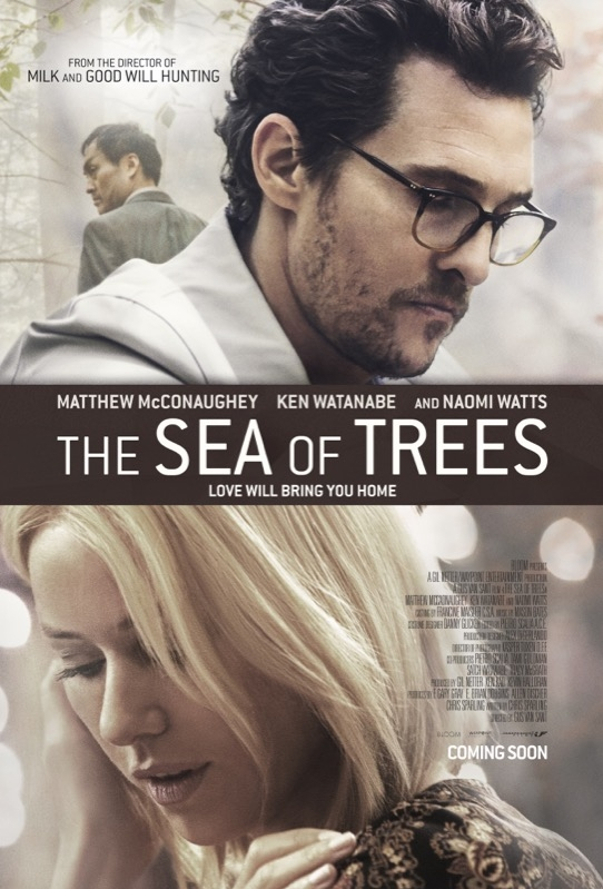 The Sea of Trees poster, © 2015 Independent Films