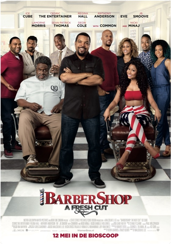 Barbershop: The Next Cut poster, © 2016 Warner Bros.