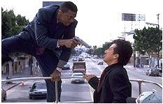 Chris Tucker en Jackie Chan - de nieuwe Abbot en Costello? (c) 1998 New Line Cinema