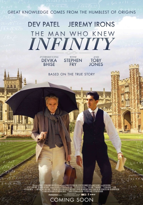 The Man Who Knew Infinity poster, © 2015 Paradiso
