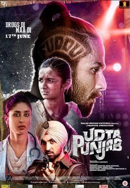 Udta Punjab poster, copyright in handen van productiestudio en/of distributeur