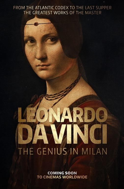 Leonardo da Vinci - The Genius in Milan poster, copyright in handen van productiestudio en/of distributeur