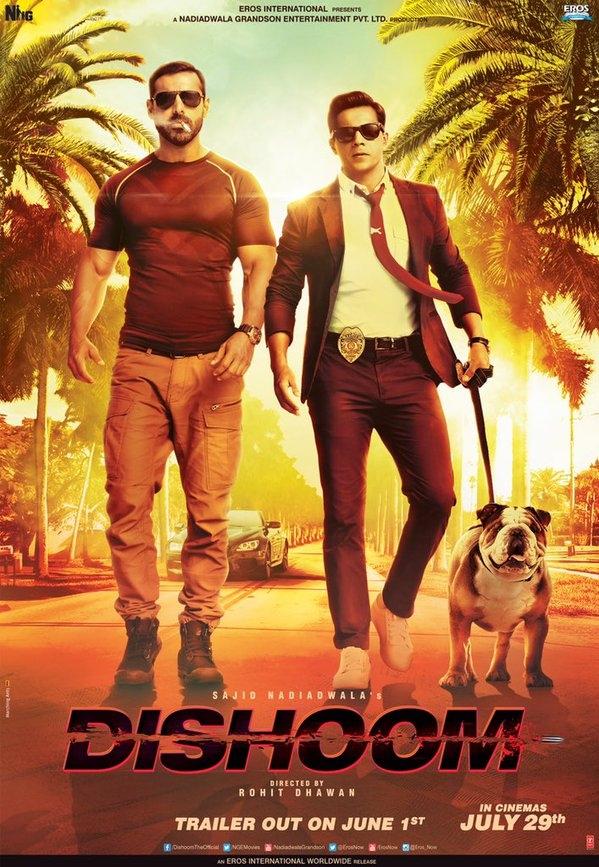 Dishoom poster, copyright in handen van productiestudio en/of distributeur