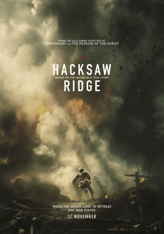 Hacksaw Ridge poster, © 2016 Splendid Film