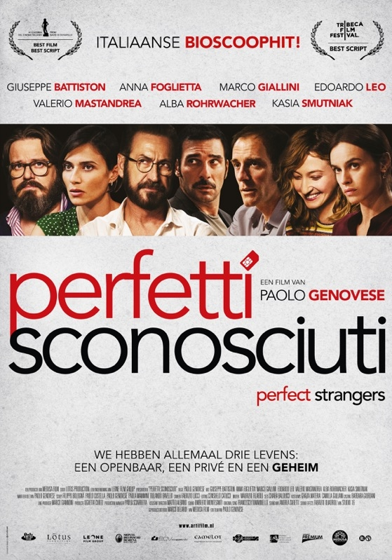 Perfetti sconosciuti poster, © 2016 Arti Film