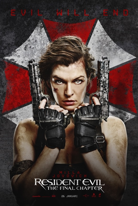 Resident Evil: The Final Chapter poster, © 2016 Universal Pictures International