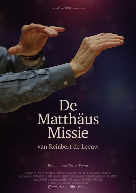 De Matthäus missie van Reinbert de Leeuw poster, copyright in handen van productiestudio en/of distributeur
