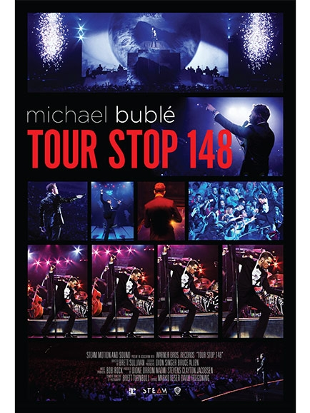 Michael Buble - Tour Stop 148 poster, copyright in handen van productiestudio en/of distributeur