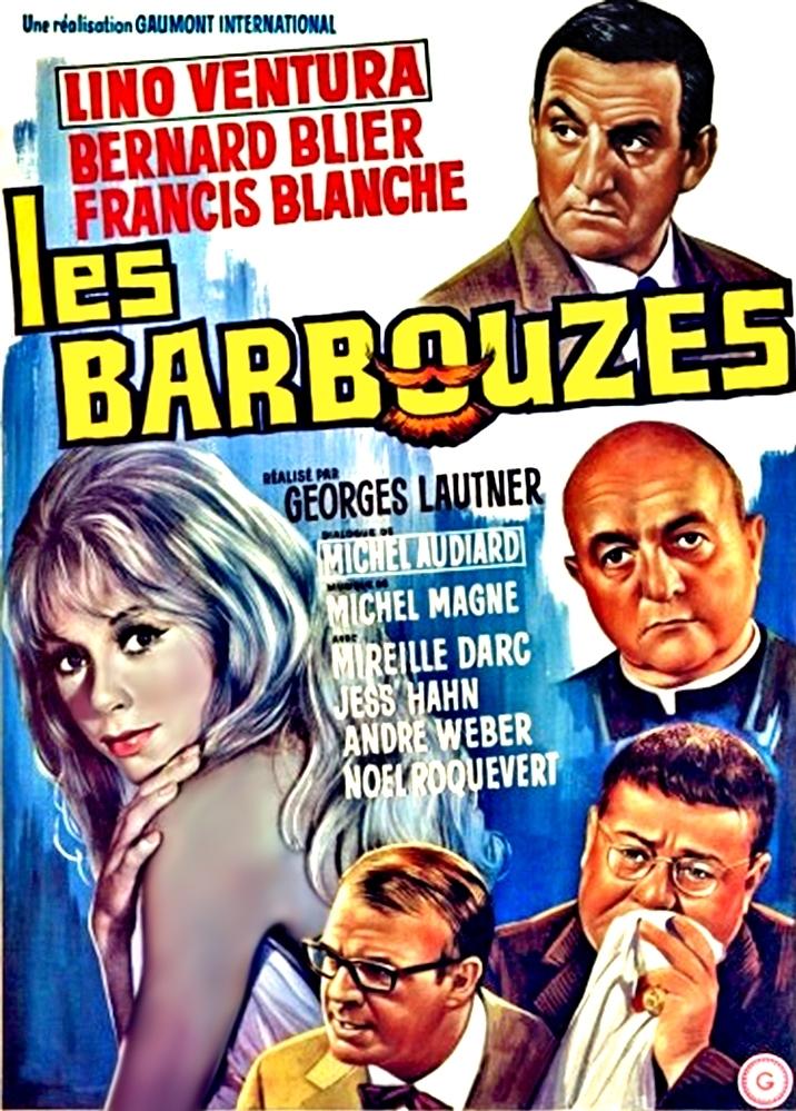 Les Barbouzes poster, copyright in handen van productiestudio en/of distributeur