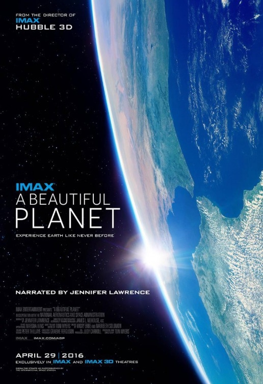A Beautiful Planet poster, copyright in handen van productiestudio en/of distributeur