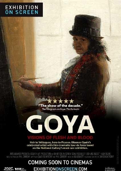 Goya: Visions of Flesh and Blood poster, copyright in handen van productiestudio en/of distributeur