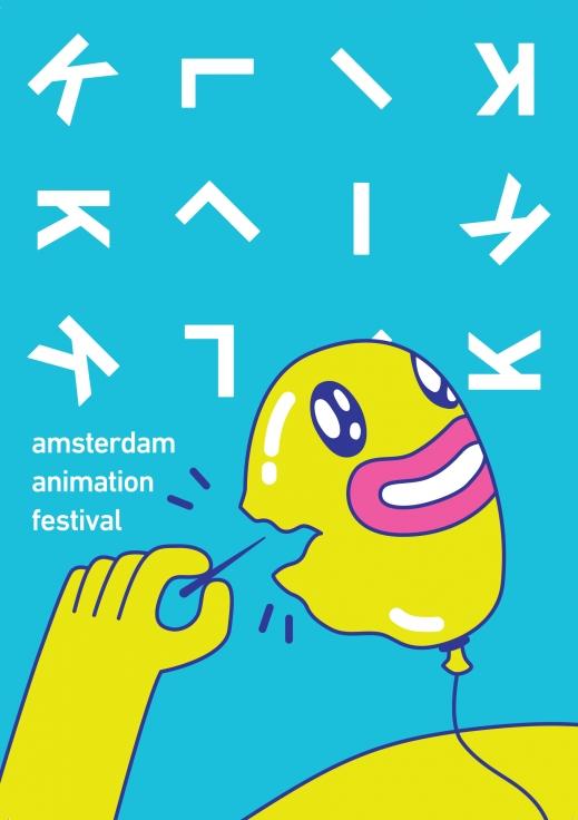KLIK! Amsterdam Animation Festival 2016 poster, copyright in handen van productiestudio en/of distributeur