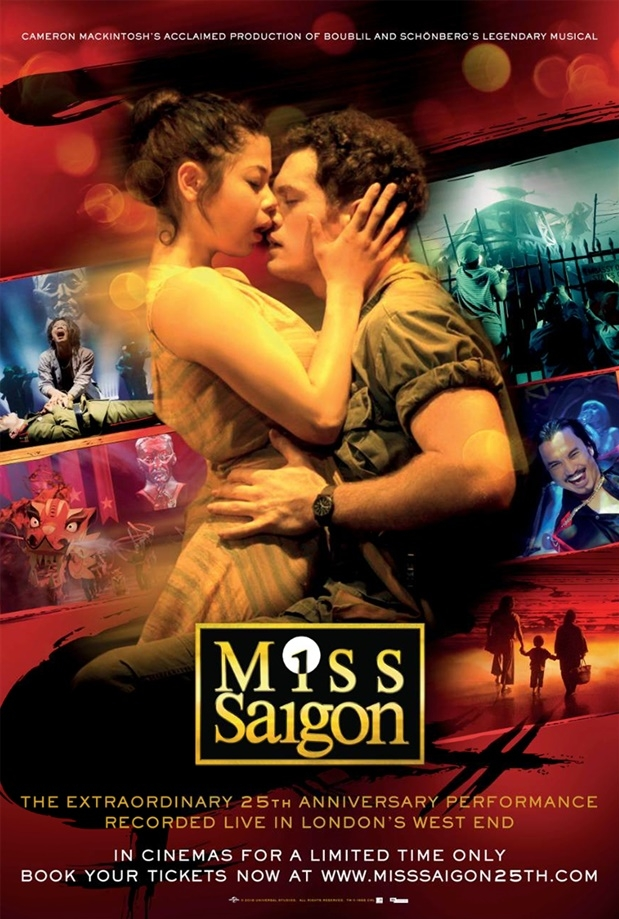 Miss Saigon 25th Anniversary poster, copyright in handen van productiestudio en/of distributeur