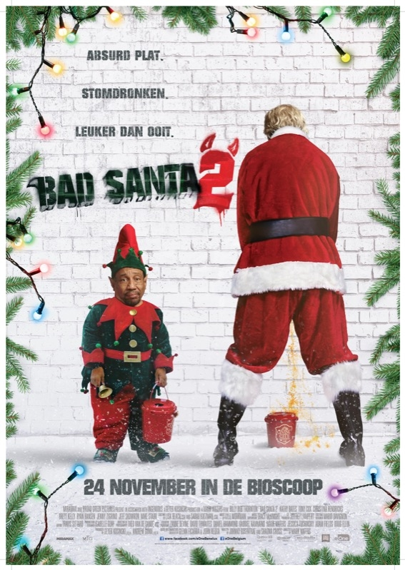Bad Santa 2 poster, © 2016 Entertainment One Benelux