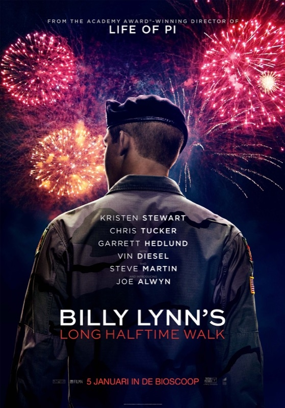 Billy Lynn's Long Halftime Walk poster, © 2016 Universal Pictures International