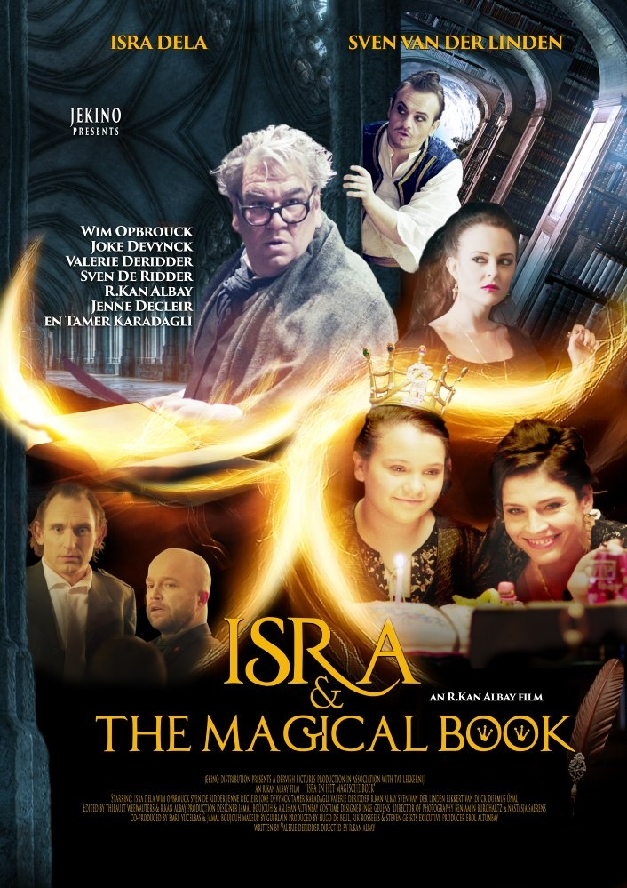 Isra en het magische boek poster, copyright in handen van productiestudio en/of distributeur