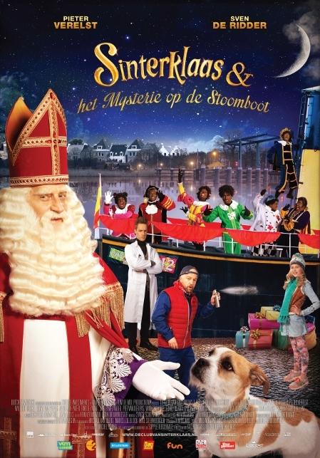 Sinterklaas en het mysterie op de stoomboot poster, copyright in handen van productiestudio en/of distributeur