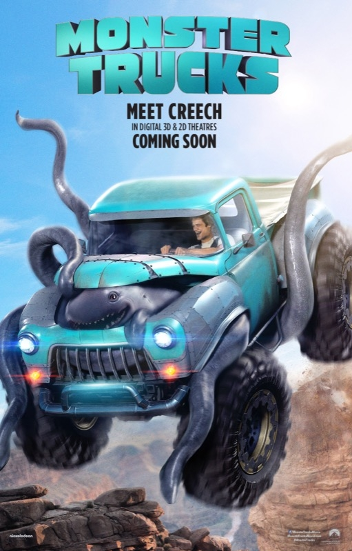 Monster Trucks poster, © 2017 Universal Pictures International