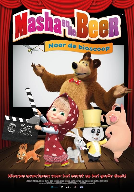 'Masha i Medved' (NL) poster, © 2009 Dutch FilmWorks