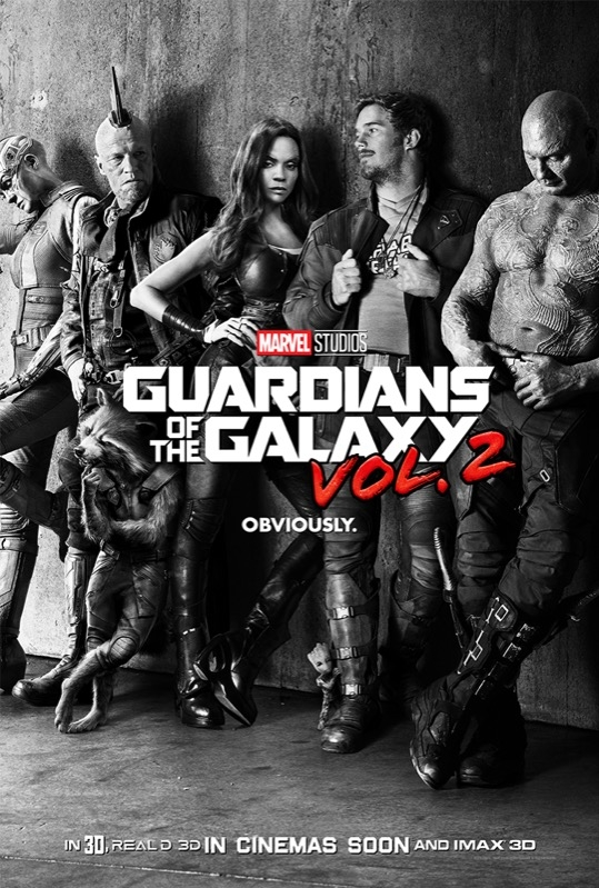 Guardians of the Galaxy Vol. 2 poster, © 2017 Walt Disney Pictures