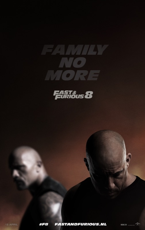 The Fate of the Furious poster, © 2017 Universal Pictures International