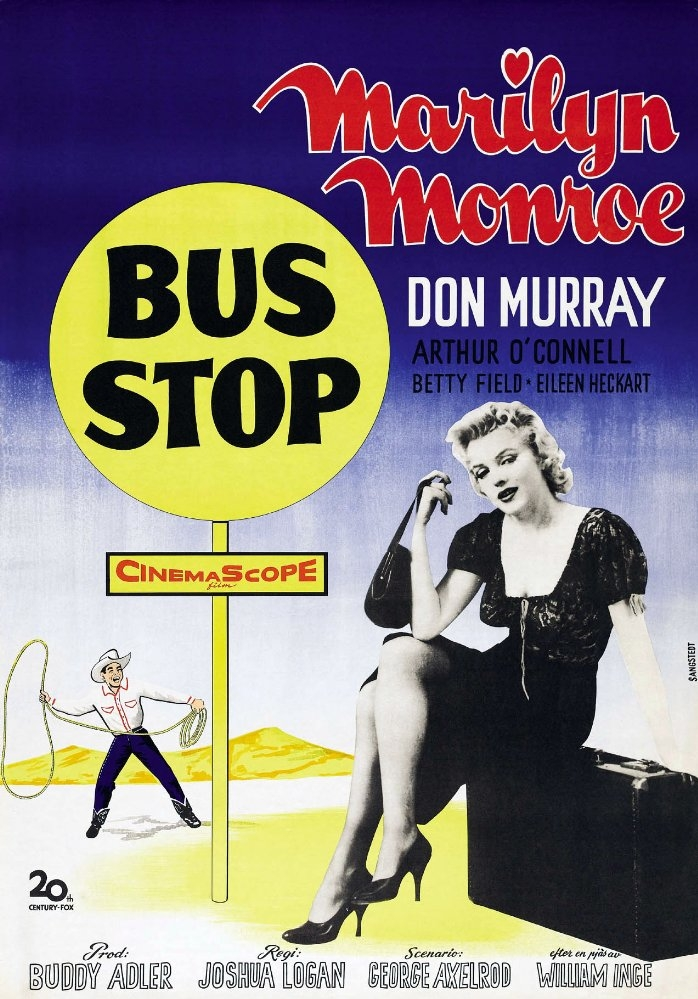 Bus Stop poster, copyright in handen van productiestudio en/of distributeur