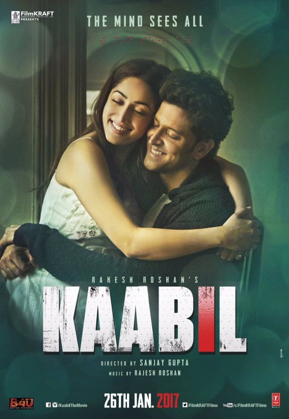 Kaabil poster, copyright in handen van productiestudio en/of distributeur