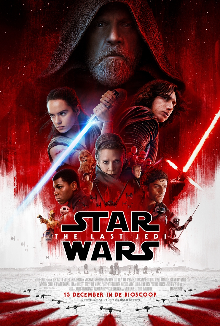 Star Wars: The Last Jedi poster, copyright in handen van productiestudio en/of distributeur