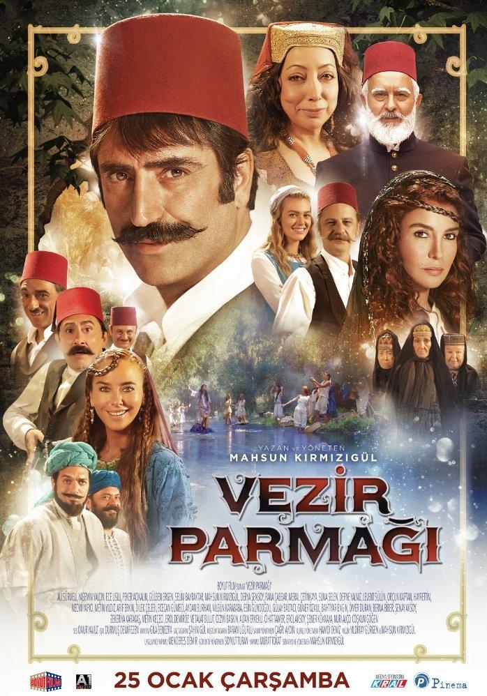 Vezir Parmagi poster, copyright in handen van productiestudio en/of distributeur