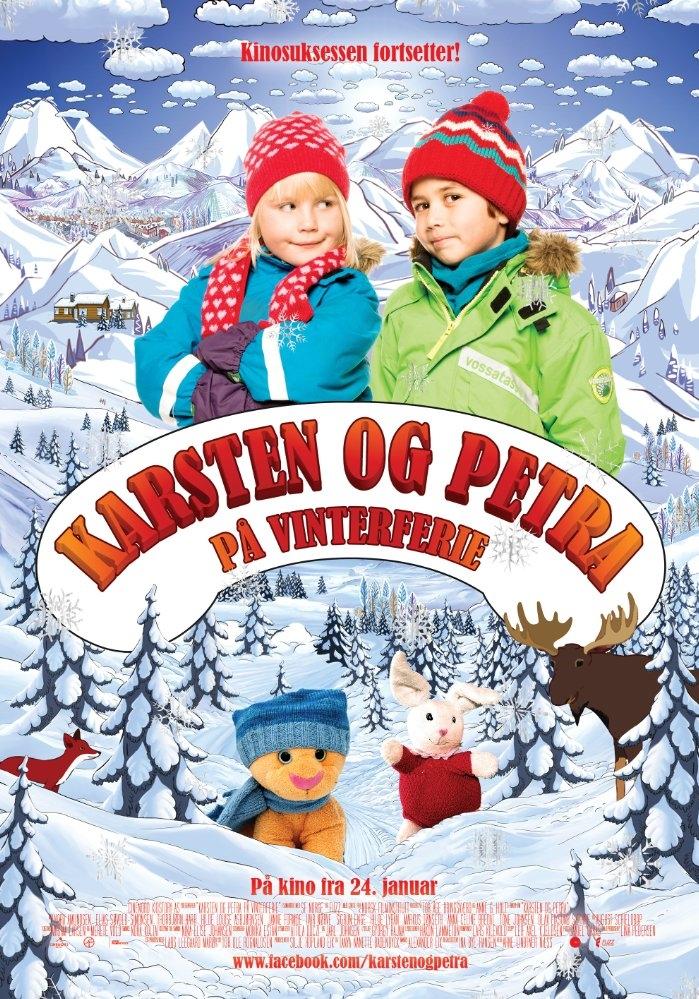 Karsten og Petra på vinterferie poster, copyright in handen van productiestudio en/of distributeur