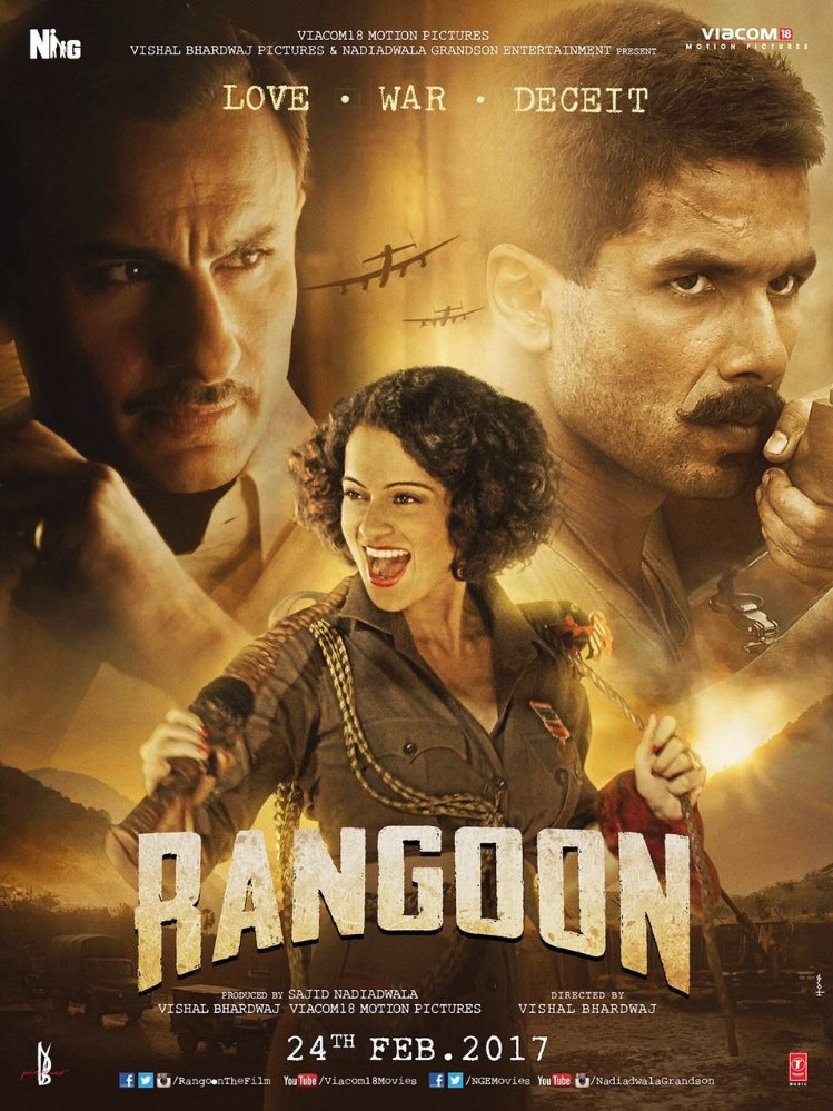 Rangoon poster, copyright in handen van productiestudio en/of distributeur